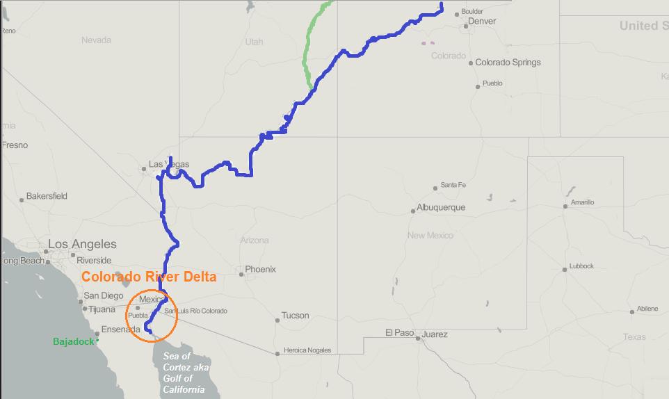 Colorado River Delta EXPAT In BAJA Mexico - Colorado in us map