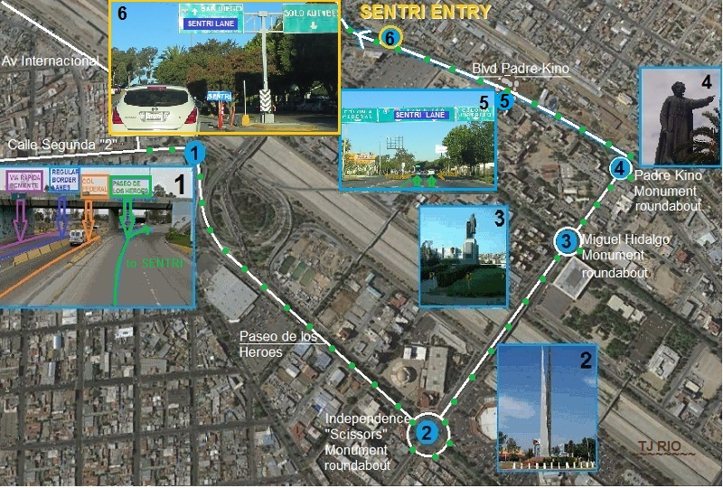 going north to San Ysidro crossing Sanysidrosentri20146
