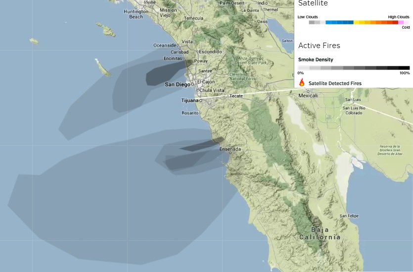 Baja Socal Smoke Map EXPAT In BAJA Mexico - Southern california map la quinta