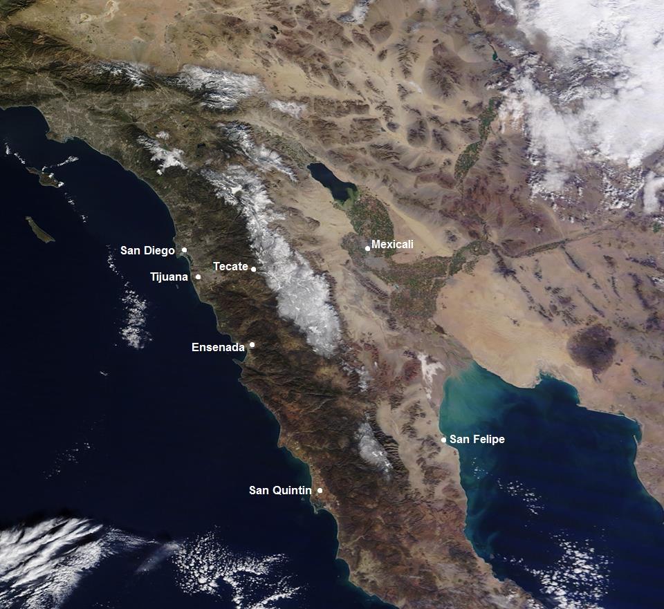Baja Satellite Snow Map EXPAT In BAJA Mexico - Satellite mexico map