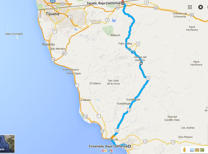 Tecate Mexico Map Ensenada to Tecate « EXPAT in BAJA Mexico