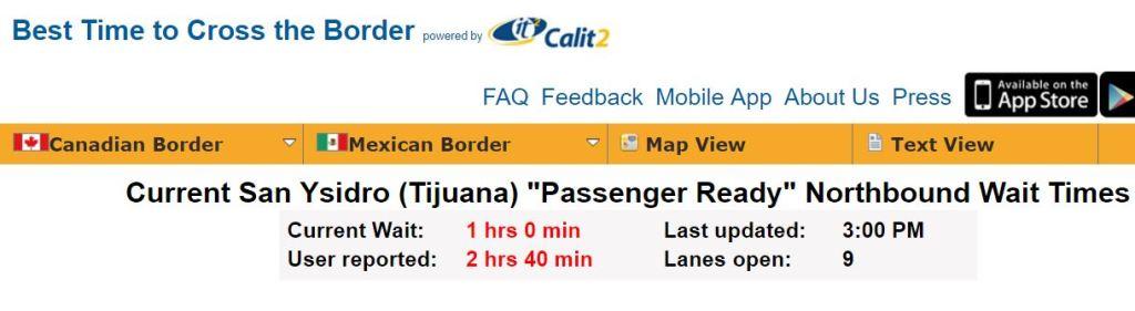 San Ysidro Border Crossing  EXPAT In BAJA Mexico - Google maps us border to rosarito mexico