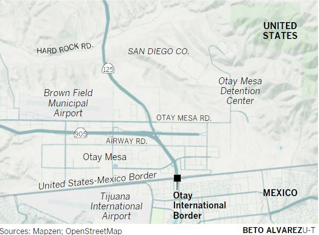 border patrol spokesman ralph desio did not say exactly where the construction will take place saying only that it would occur in the otay mesa area