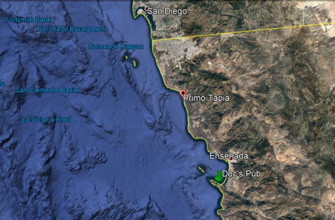 EXPAT In BAJA Mexico - Google maps us border to rosarito mexico